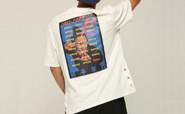 新品5.5折!THETHING侧缝打气孔字母图案短袖T恤