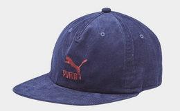 领劵优惠!PUMA 彪马灯芯棉刺绣logo男女棒球帽平檐帽