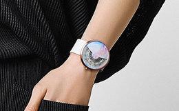 200元劵!odm创意概念无指针炫酷星空圆盘男女手表腕表
