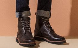 新品5折!clarks其乐布洛克系带工装马丁男靴