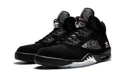 AIR JORDAN 5 Paris联名麂皮黑银3M反光男篮球运动鞋
