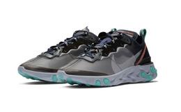 新品!Nike REACT ELEMENT 87复古透明拼色男子运动鞋