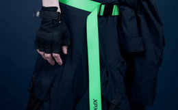 周柏豪潮牌 XPX尼龙材质撞色夜光logo特色搭扣男女腰带