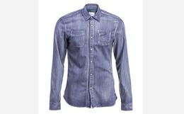 六折!荷兰潮牌scotch&soda 紫色做旧男士长袖衬衫