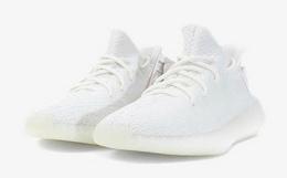 8.6折!Adidas YEEZY350白斑马椰子男跑鞋