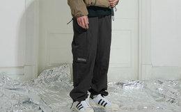 8折!ATTEMPT贴布多口袋纯色改良版军裤男束脚裤