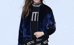 5折!Koetic Friday 潮流丝绒加厚保暖女装夹克外套