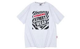 3.9折!VISION STREET WEAR LOGO印花男女短袖T恤