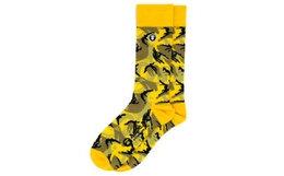 新品!Aape猿颜徽章字母印花迷彩中筒袜