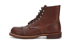 双十一特价!Red Wing红翼新款经典圆头系带男士工装靴