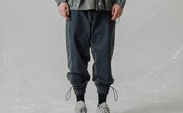 新品领劵!FLOAT 城市轻机能拼色抽绳束脚裤男女工装裤
