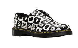 新品!Dr.Martens马汀博士黑白色扑克牌三孔牛皮低帮鞋