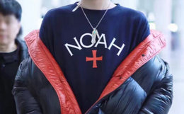 美潮 Noah NYC 初代刺绣十字logo圆领男女卫衣