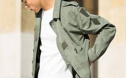 3.3折!alpha阿尔法工业F2 french coat做旧男工装夹克