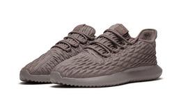 Adidas阿迪达斯三叶草编织黑棕小椰子男跑步鞋运动鞋
