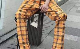 2.7折!SSURPLUS 直筒撞色格纹织带拼接复古男女运动裤
