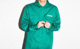 新品领劵!XLARGE 背后大猩猩logo印花男工装衬衫夹克
