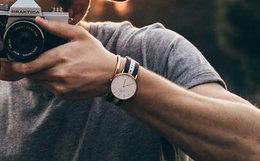 100元劵!DanielWellington40mm织带大圆盘石英男手表