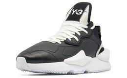 8折!Y-3系带拼接皮革男女同款运动休闲跑鞋