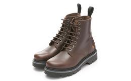 新品!art 牛皮革鞋面简约英伦风圆头男女工装靴马丁靴