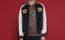 新品8折!TYAKASHA塔卡沙GOOD LUCK系列老虎刺绣绗缝棒球服外套
