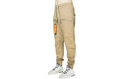 4.5折!MishkaNYC直筒口袋拉链针织运动束脚男裤