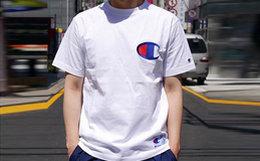 7折!CHAMPION冠军日版经典刺绣大LOGO男女短袖T恤