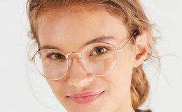 7.3折!Urban Outfitters 细圆金属镜框女士眼镜