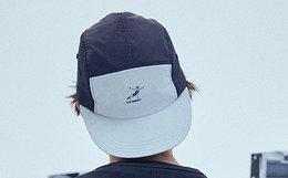 国潮ANB跳水健将印花拼色五片圆顶平沿帽男女鸭舌帽