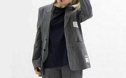 新品!LE TROTTOIR NEWBORN印花结构式贴布西装外套