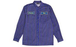 新品!PLEASURES方领贴布拼色条纹男女衬衫
