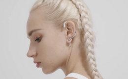 black head设计师潮牌创意缠绕蛇形钛钢耳饰耳环
