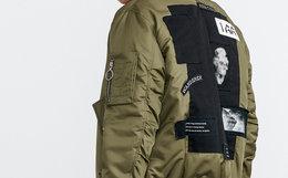 新品!lilbetter 背部贴布印花飞行夹克T-9174-108406