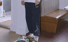 陈赫潮牌 TIANC BRAND 游戏主题水浆胶印束脚裤男女卫裤