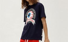 MishkaNYC大眼球印花圆领男女套头短袖宽松T恤