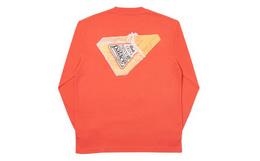 Palace 背后三角奶酪印花男女宽松套头圆领长袖T恤