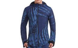 新品!Y-3 2018SS梦幻海洋条纹3D印花卫衣外套