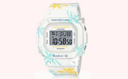 新品!Casio卡西欧BABY-G系列花色运动防水手表