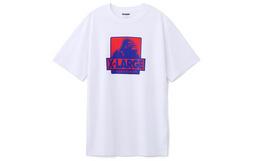 9折!美潮XLARGE猩猩logo印花宽松圆领短袖男女T恤