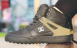 4.5折!DCSHOECOUSA/DC羊绒系带高帮运动鞋男板鞋