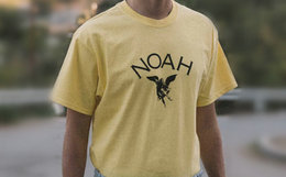 NOAH X DSM CITY天使之城联名圆领套头男女短袖T恤