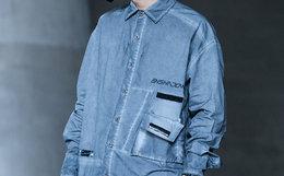 新品!ENSHADOWER 隐蔽者洗旧口袋拼接条衬衫男外套