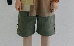 国潮 LETROTTOIR 直筒多抽绳贴布盖袋男女工装短裤