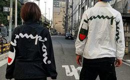 新品!美潮Supreme×Champion联名款后背大LOGO教练夹克外套