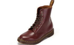 5.8折!Dr.Martens 英伦风酒红色牛皮马丁靴16509601