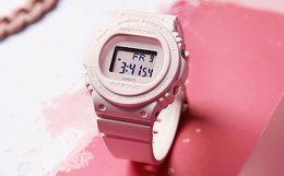 Casio BABY-G系列简约圆表盘玻璃镜面石英机芯女手表