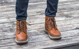 3.9折!CAT/卡特皮革系带加厚户外工装靴高帮男靴