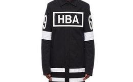 8折!HoodByAir HBA logo方块胶印斜纹布风衣
