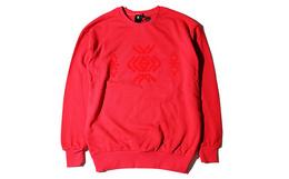五折!LXVI男女通款新品圆领纯色几何图案卫衣