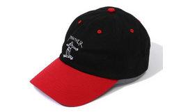 THRASHER 滑板小人logo刺绣拼色弯檐帽男女棒球帽
